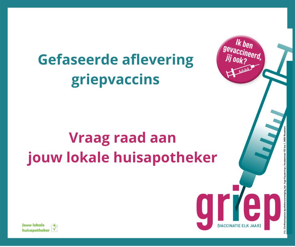 gefaseerde aflevering griepvaccins